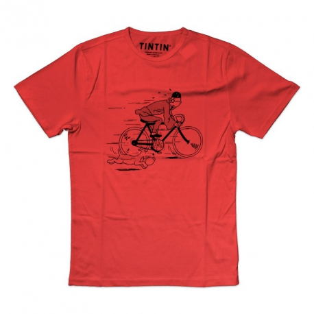 T-SHIRT TINTIN & SNOWY - BIKE LOTUS