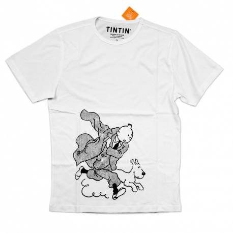 T-SHIRT TINTIN & SNOWY - TINTIN PUTS ITS TRENCH