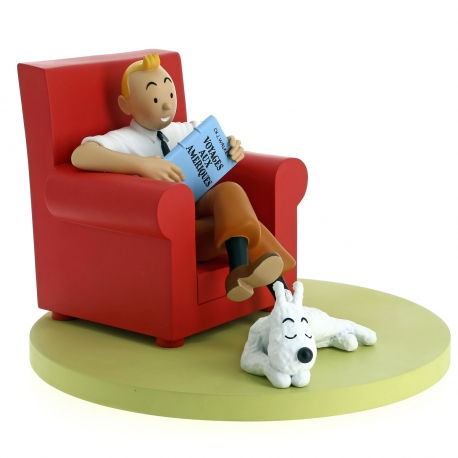 3 - Icones Tintin: fauteuil rouge