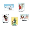 Set of 5 Christmas and New Year Tintin Postcards (15x10cm)
