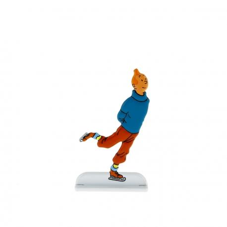 Tintin fait du patinage sur glace