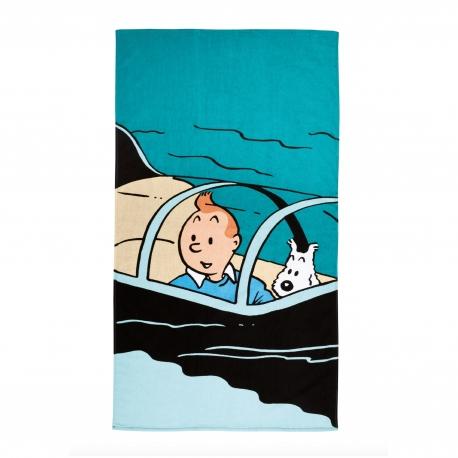 Toalha de praia Tintin peq. - Submarino Tubarão