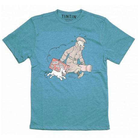 "T-Shirt Tintin ""Ils arrivent!"" blue"