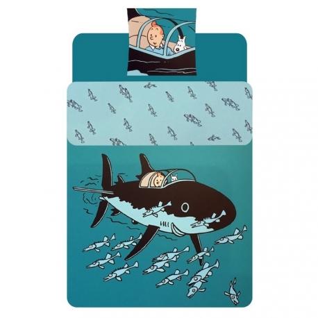 Capa de edredão Rackham - submarino tubarão