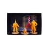 Mini figurines plomb Tintin, Haddock et Milou Cosmonaute