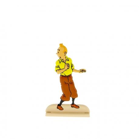 Tintin se retournant