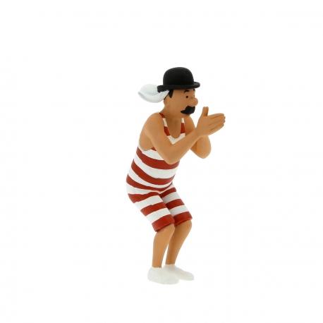 Figurine Tintin lotus bleu 9 cm ref 42453 GM//Large size MOULINSART