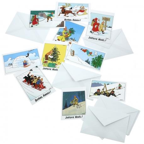 Conjunto de 10 Postais de Natal e Ano Novo (15x10cm)