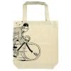 Saco algodão crú Tintin de bicicleta