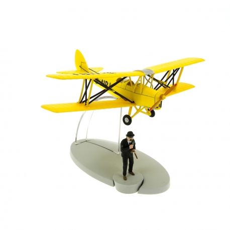 Yellow biplane