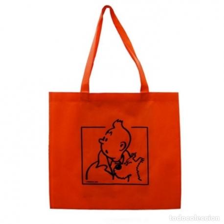 Sacos reutilizáveis Tintin e do Milou impressos dos 2 lados (43 c m x 40 cm)
