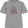 T-Shirt: Tintin Bruxelles (Gris/Cerise)