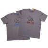 T-Shirt Tintin Bruxelles (Grey/Cherry)