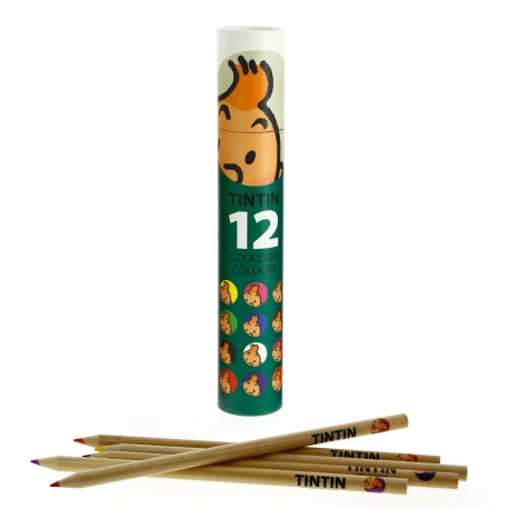 Tubo com 12 lápis de colorir verde