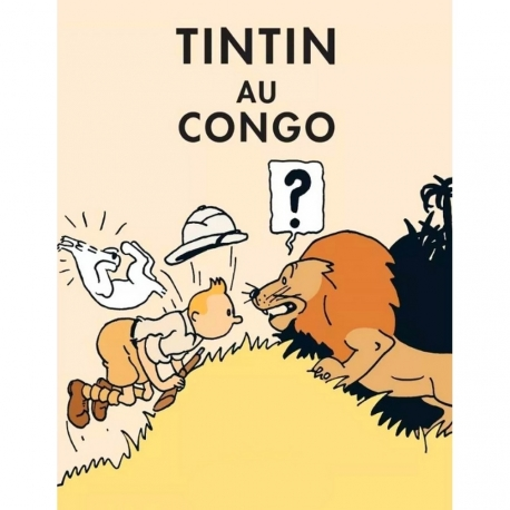 Postcard Tintin Au Congo CL