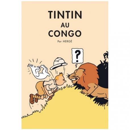 Poster Tintin au Congo color (50 x 70cm)