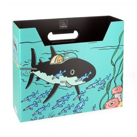 File Box Tintin - Shark Submarine