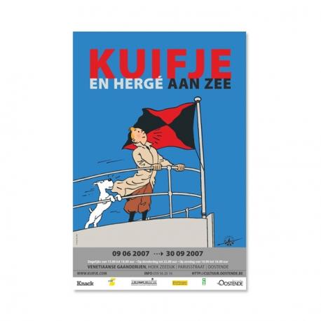 Cartaz Kuifje en Hergé aan zee