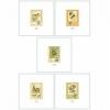 5 litographies Tintin Nature