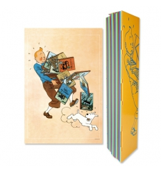 Tintin carrying books poster (60x40cm)