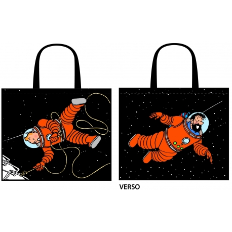 Bag Tintin & Haddock on the moon