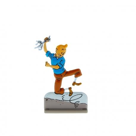 Tintin jumps for joy