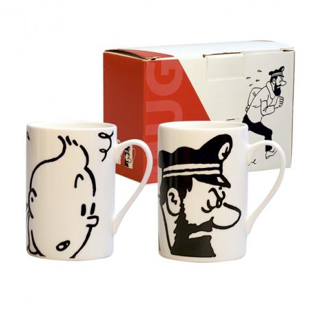 Conjunto duas canecas Tintin e Haddock