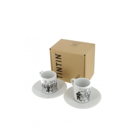 Par de chávenas de café CARTE DE VŒUX HERGE 1972