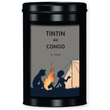 Lata café bio comércio justo TINTIN AU CONGO - fogueira