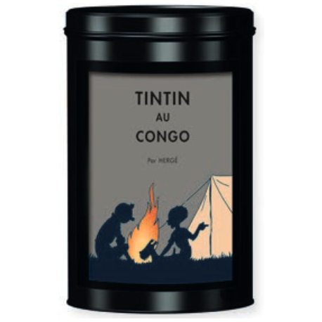 TIN FAIRTRADE COFFEE TINTIN AU CONGO - campfire
