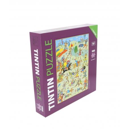 Puzzle + poster Tintin - SCEPTRE D'OTTOKAR 1.000