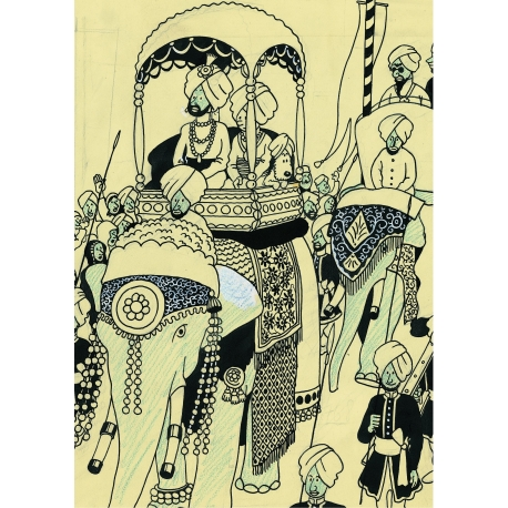 Postcard of Elephant Parade