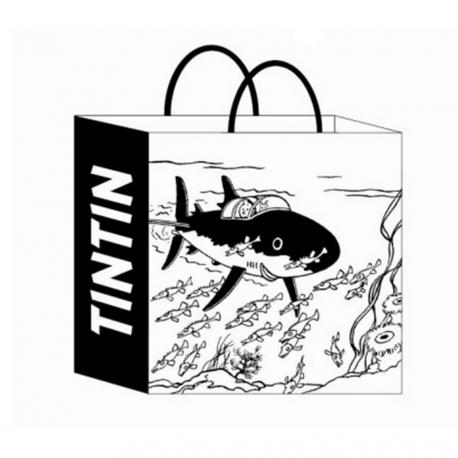 Recycled paper bag Tintin Shark