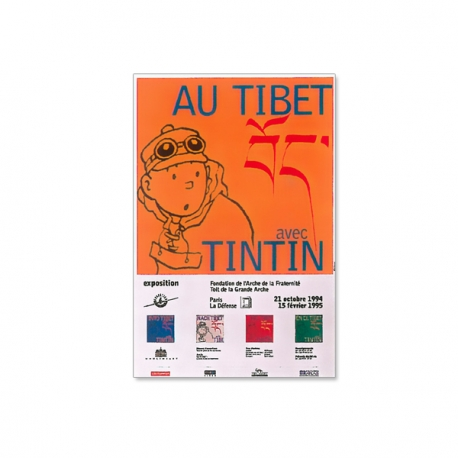 Cartaz Au Tibet avec Tintin – Paris