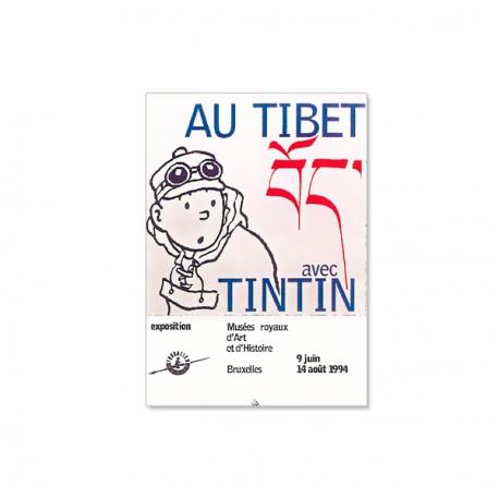Cartaz Au Tibet avec Tintin – Bruxelles