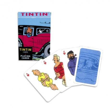 Jogo de Cartas viaturas Tintin - 9 cm x 6 cm x 2 cm