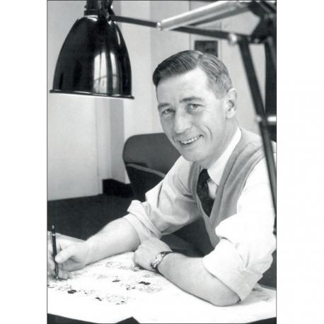 Poste card – Hergé, Robert Kayaert: Studio Tintin, 1958