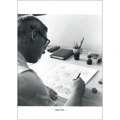 Postcard – Hergé, Robert Kayaert: Studio Tintin, 1964