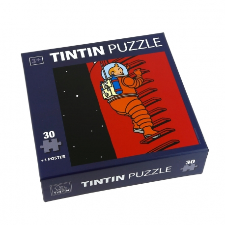 Puzzle + poster Tintin - hanging from the rungs