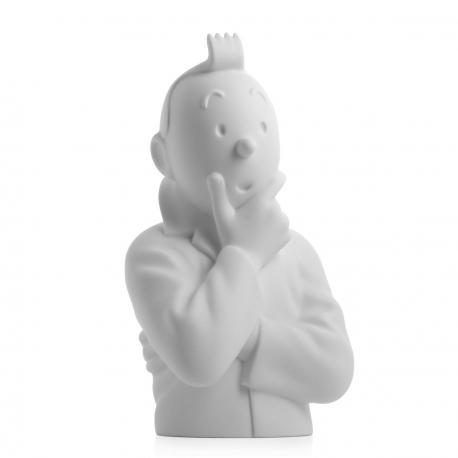Busto Tintin pensativo – mate 24cm