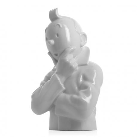 Pensive Tintin bust – gloss 24cm