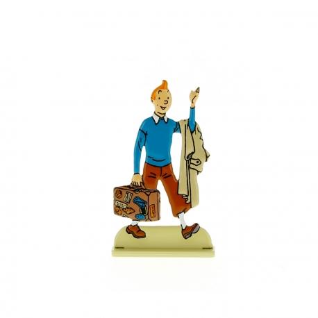 Tintin com a sua mala