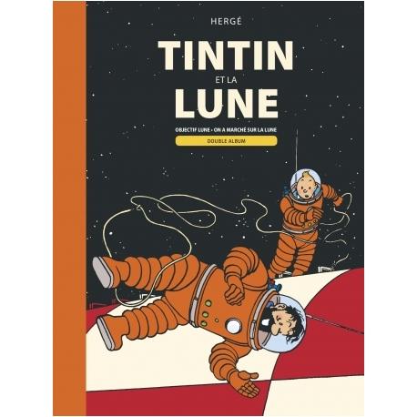 Album Duplo: Tintin Objectif Lune e On a Marché sur la Lune (FR)