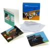 DOUBLE Mini POSTCARD SET OF 8 - PLANE & TRAIN