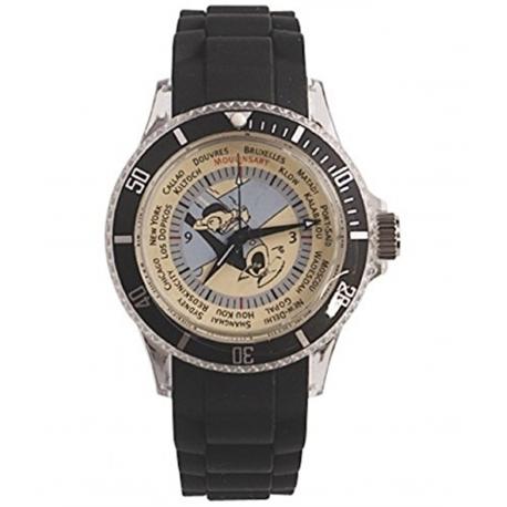 Relógio Tintin Avião - bracelete preta