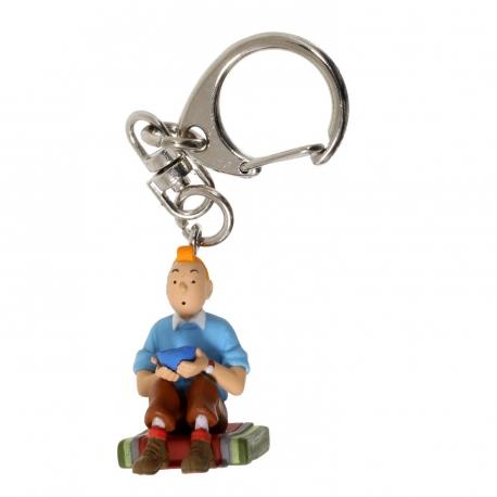 Porta-chaves Tintin Sentado (3.8cm)