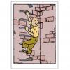 Postal duplo Tintin sobe