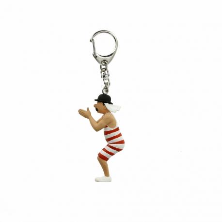 Porta-chaves Dupond em fato de banho (8cm)