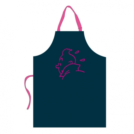 Child Apron – pink embroidery