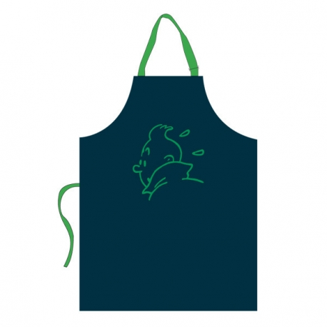 Child Apron – green embroidery